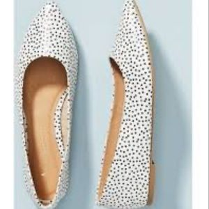 Anthropologie Motif Leather Pointed Dot Flats